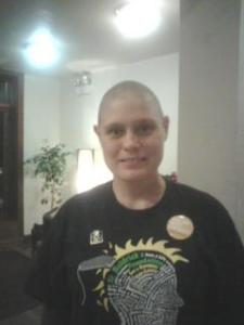 Here I am after being a shavee for a St. Baldrick's Foundation fundraiser for children with cancer on September 22, 2011.